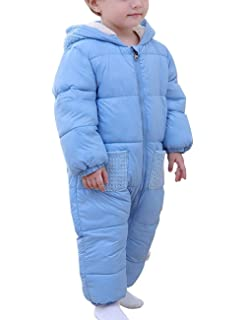 112071f7d Toddler Unisex Baby Winter Down Long Sleeve Zipped Hooded Snowsuit ...
