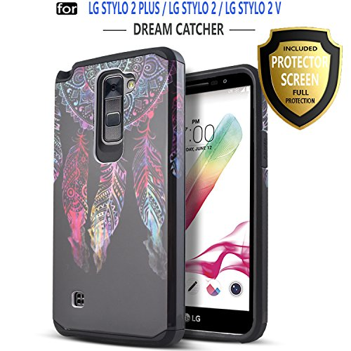 LG Stylo 2 Case, LG Stylo 2 Plus Case, LG Stylo 2 V Case, Starshop [Shock Absorption] Dual Layers Impact Advanced Protective Cover With [Premium HD Screen Protector Included][Dream Catcher]