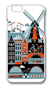 Apple Iphone 6 Case,WENJORS Cool Amsterdam Hard Case Protective Shell Cell Phone Cover For Apple Iphone 6 (4.7 Inch) - PC 3D