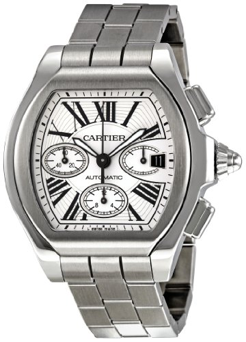 Cartier Men's W6206019 Roadster Silver Dial Watch (Large Image)