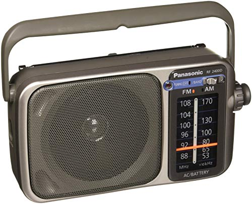 Panasonic RF-2400D AM / FM Radio, Silver (Best Battery Powered Portable Radio)
