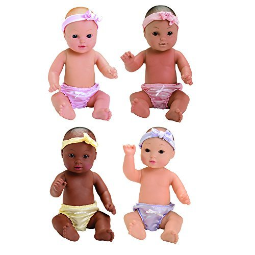 ngs CPX-485 Tender-Touch Baby Dolls - Combo Set of 4 Dolls Each with Their Own Blankie ()