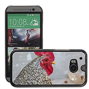 Super Stella Slim PC Hard Case Cover Skin Armor Shell Protection // M00145023 Bird Cock Pets Poultry Winged // HTC One M8