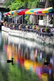 Colorful San Antonio Riverwalk San Antonio Texas USA Journal: 150 Page Lined Notebook/Diary