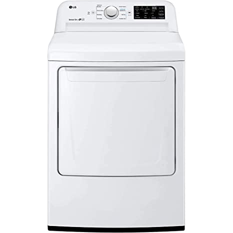 Amazon com: LG DLE7100W 7 3 Cu  Ft  White Electric Dryer with Sensor