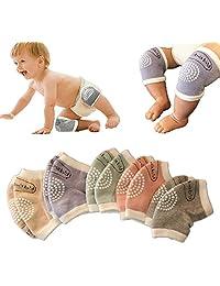 Unisex Baby Toddlers Crawling Kneepads Adjustable Anti-Slip Knee Elbow Pads 5 Pairs