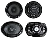 Kenwood KFC-1665S + KFC-6965S 6.5' 300W 2-Way Plus (2) 6x9 400W 3-Way Car Speakers