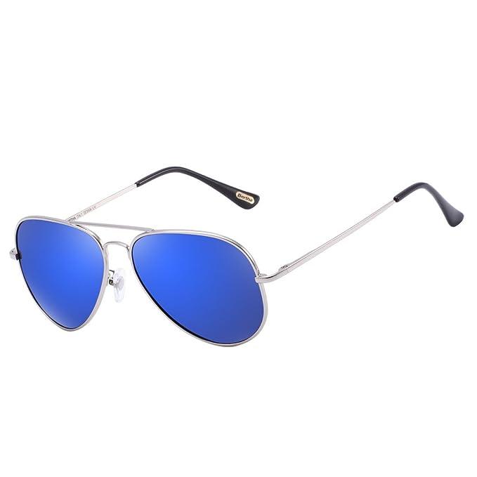 bf2e389fa Amazon.com: Bertha Classic Aviator Polarized Mirrored Sunglasses 805 ...