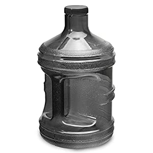 1 Gallon BPA FREE Reusable Plastic Drinking Water Bottle Jug Container (Charcoal Black)