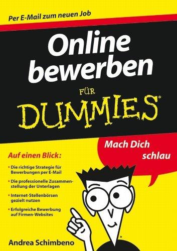 Online Bewerben Fur Dummies  Für Dummies