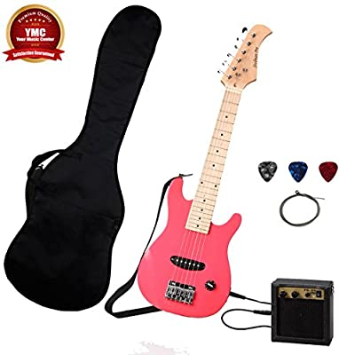 Stedman Kid Series Electric Guitar Pack with 5-Watt Amp, Gig Bag, Strap, Cable, Strings, Picks, and Wrench