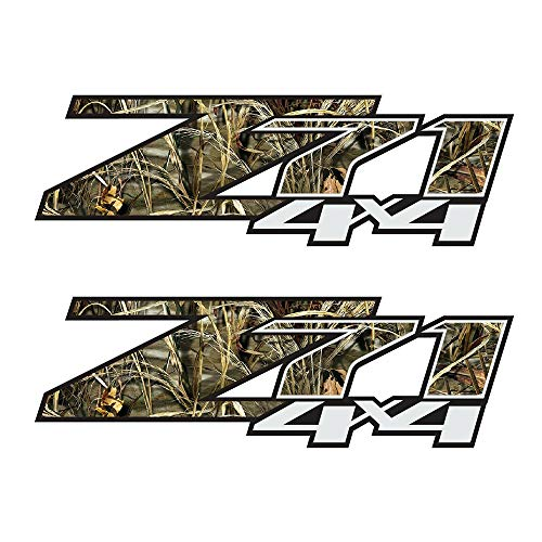 GOLD HOOK Set of 2 07-13 Chevy Silverado Z71 4x4 Decals Realtree Camo Stickers Bed Side ()