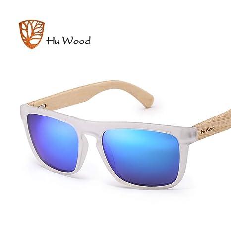 Yangjing-hl Gafas de Sol de bambú Natural para Hombres Gafas ...