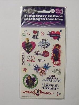 Temporary Tattoos - Justin Bieber