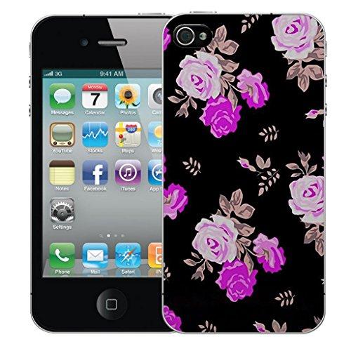 Mobile Case Mate iphone 5 Dur Coque couverture case cover Pare-chocs - purple rose Motif