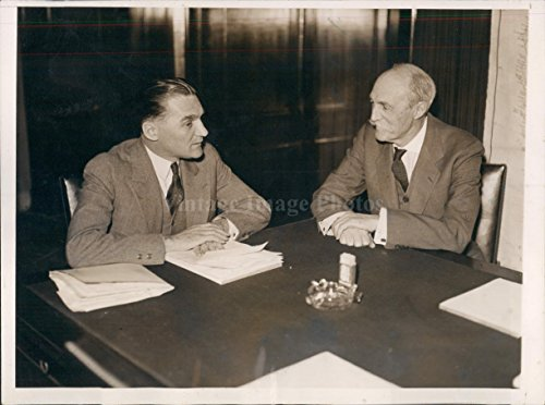 1932 Governor Gifford Pinchot Pennsylvania Senator Gerald Nye Press Photo (Pinchot Gifford Pennsylvania)