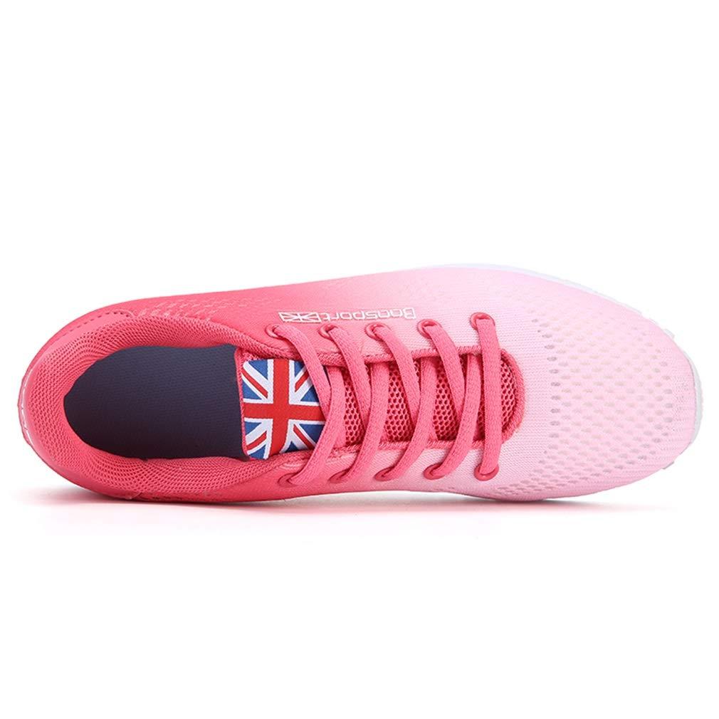 Damenschuhe Stricken Sommer Herbst Turnschuhe Turnschuhe Turnschuhe Damen Casual Trainer Schuhe leichte atmungsaktive Mesh Laufschuhe (Farbe   EIN Größe   36) f7414c