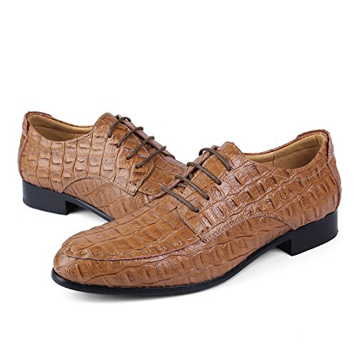 Casual Oxford Men's amp;Baby Marrone Scarpe Resistente scuro da Brown Light all'abrasione 36 Sunny semplici coccodrillo Dimensione classiche Business classiche Color e EU qwnI4tx