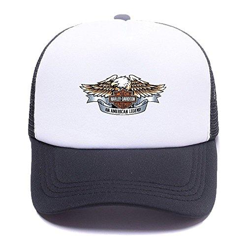 Harley D Black Baseball Caps Gorras de béisbol Trucker Hat Mesh Cap For Men Women Boy Girl 008 Black