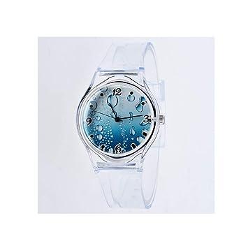 LMSHM Reloj De Dama Reloj De Pulsera Transparente para Mujer Relojes Deportivos Relojes De Cristal para Dama,A: Amazon.es: Deportes y aire libre