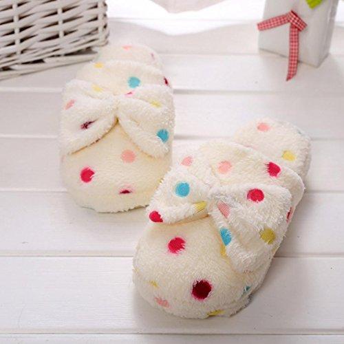Gillberry Mujer Winter Indoor Sandalia Zapatos Para El Hogar Faux Fur Warm Slippers Beige