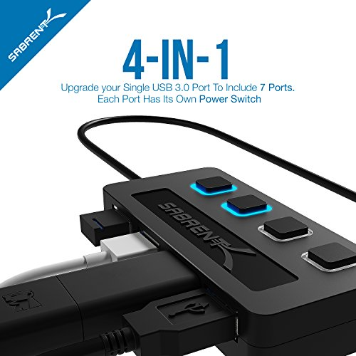 upc 819921011145 product image for Sabrent 4-Port USB 3.0 Hub with Individual Power Switches and LEDs (HB-UM43)