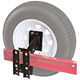 utility trailer frame - Discount Ramps Boat and Utility Trailer Spare Tire Carrier 4 or 5 Lug Wheel Bracket No-Drill