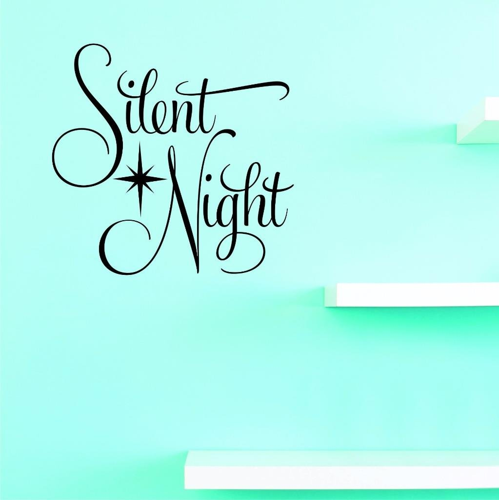 Design with Vinyl US V JER 3234 4 Top Selling Decals Silent Night Wall Art Size X 20 Inches Color 20 x 20 Black