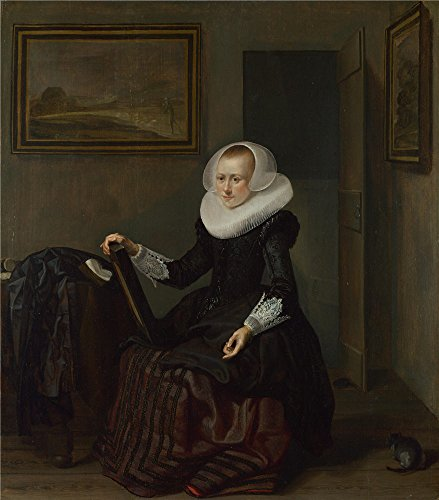 'Pieter Codde A Woman Holding A Mirror ' Oil Painting, 18 X