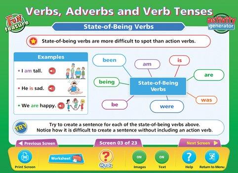 Amazon.com : Daydream Education Verbs Adverbs & Verb Tenses ...