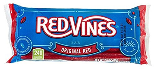 Red Vines Licorice Candy Bars, Original Red Flavor, Pull Apart Chewy Candy in 2.5oz Bags (24 (Soft Licorice Bites)
