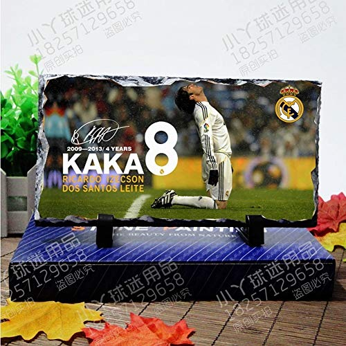 World Cup Football Teams Football Superstar Football Fans Natural Rock Inkjet Ornaments for Football Fans to Commemorate, Home Decoration, Real Madrid Kaka, - Kaka Madrid Real