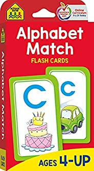 School Zone - Alphabet Match Flash Cards - Ages 4 and Up, Preschool to Kindergarten, ABC's, Letters, Match