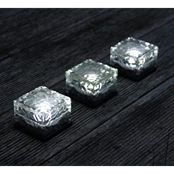 Frostfire Solar Ice Rocks   Path And Garden Solar Lights (Set Of 3)