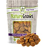 Nature Gnaws Smoked Salmon & Sweet Potato Chips - 100% Natural Omega 3 Grain-Free Dog Treats - Great for a Healthy Snack