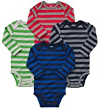 Carter's 4-Pack Long Sleeve Bodysuits – Stripes – 3M image