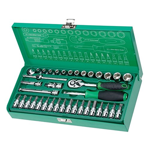 Pro39;skit SK-23801M 1/4 inch 38-Piece Sleeve Tool Set For Automotive Repair Wrench Bicycle Repair Tools Kit Hand Tool Set by Unknown (Image #1)