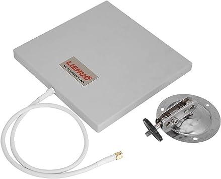 AYNEFY Panel de Antena direccional de 2.4GHz, Panel de Antena direccional 2.4GHz 14 Extensor WLAN WiFi de Alta Ganancia Dbi Extensor direccional WiFi ...