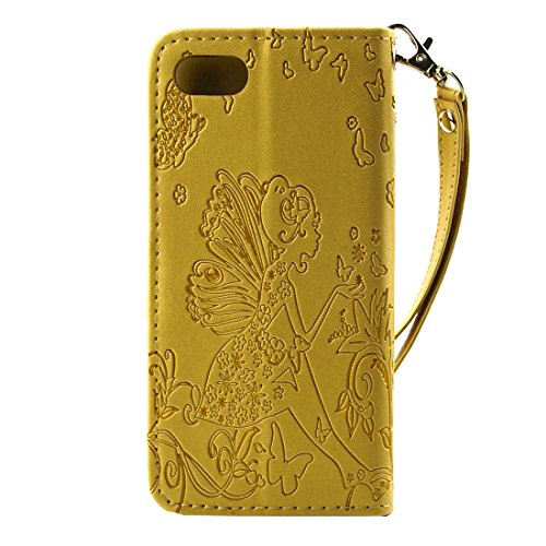Para el iPhone 7 grabado en relieve flor mariposa patrón de diamante Encrusted horizontal flip soporte PU cubierta de cuero de la caja con el titular y la tarjeta de ranuras y la cartera y marco de fo IP7G1116J