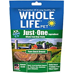 Whole Life Pet Just One-Single Ingredient Freeze Dried Treats For Dogs Pure Duck Breast, 3Oz