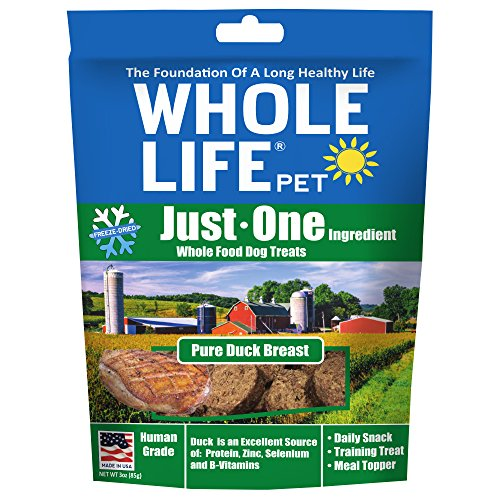 Whole Life Pet Just One-Single Ingredient Freeze Dried Treats For Dogs Pure Duck Breast, 3Oz ()