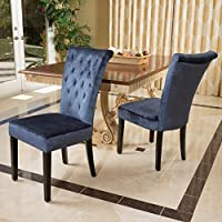 Juliette Blue Velvet Dining Chairs (Set of 2)