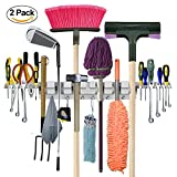 Anybest Practical Mop Broom Holder Wall-Mounted Storage Tool Rack Storage & ...