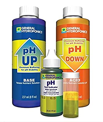 1-Set Terrific Popular GH pH Control Hydroponics Tool Accurate General Water Test Kit Up and Down Volume 8 oz with 1 oz Indicator