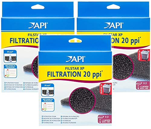 - API Filstar XP Filtration Foam Aquarium Canister Filter Filtration Pads, 2 Per Pack (6 Pack)