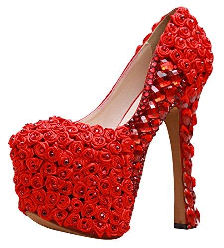 red Heel Con Rosso Donna Minitoo Plateau Scarpe 16cm 5vzwXxq07