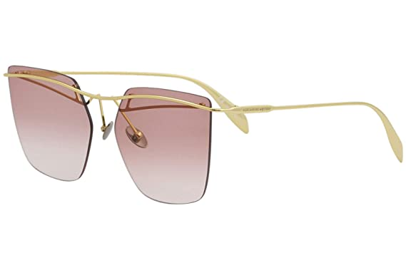 Amazon.com: Alexander McQueen AM0144S AM/0144/S 001 Gafas de ...