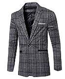 Comaba Men Lounge Premium Vogue Business Classics Suit Coat Grey L