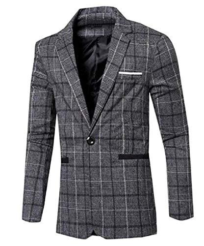 Comaba Men Lounge Premium Vogue Business Classics Suit Coat Grey L by Comaba