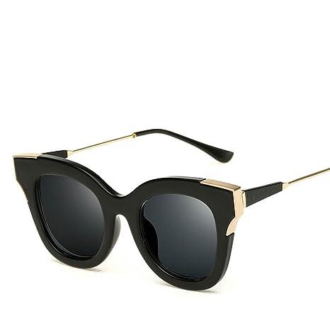 XYLUCKY Occhiali da sole UV400 dell'annata con metallo Cornici e Lens PC , f